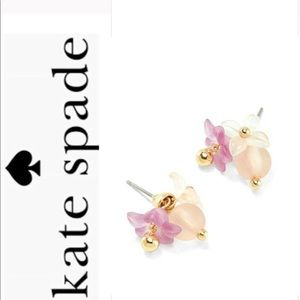 kate spade full floret stud earrings NWT